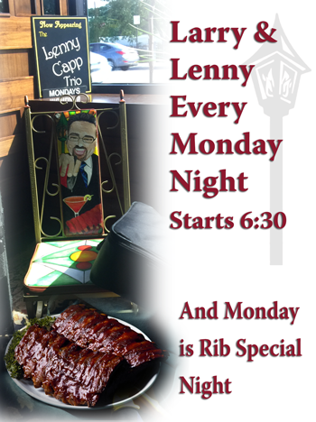Monday Rib Special and Live Jazz