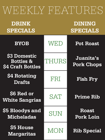 Weekly Features at Gale Street